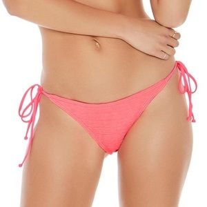 L*Space Pucker Up Neon Pink Lily Bikini Bottom Med